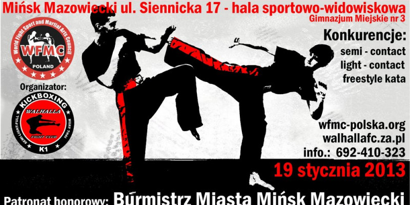 Otwarte Mistrzostwa WFMC w sztukach walki - POSZUKIWANIA SPONSORA