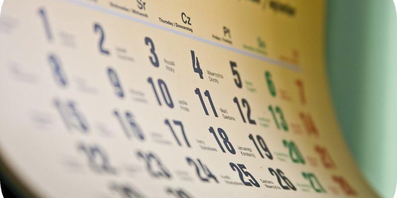 Kalendarz wydarzeń na 2016
